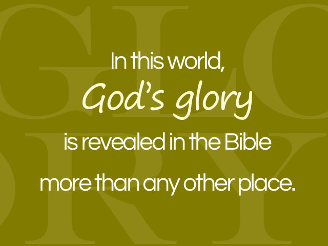 "Text art ""God's Word is revealed in the Bible"""